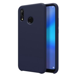 Funda Silicona Líquida Ultra Suave para Huawei Y7 2019 color Azul oscura