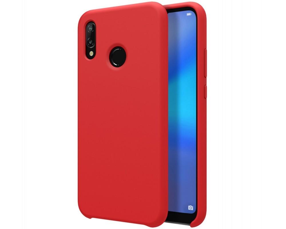 Funda Silicona Líquida Ultra Suave para Huawei Y7 2019 color Roja