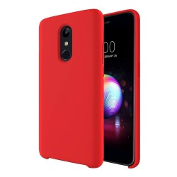 Funda Silicona Líquida Ultra Suave para Lg K11 color Roja
