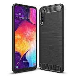 Funda Gel Tpu Tipo Carbon Negra para Samsung Galaxy A50 / A50s / A30s