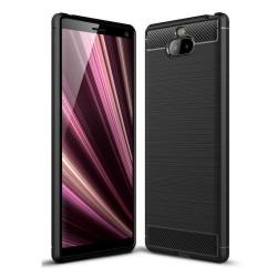 Funda Gel Tpu Tipo Carbon Negra para Sony Xperia 10