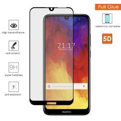 Protector Cristal Templado Completo Full Glue 5D Negro Huawei Y6 2019 Vidrio