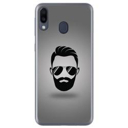 Funda Gel Tpu para Samsung Galaxy M20 diseño Barba Dibujos