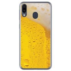 Funda Gel Tpu para Samsung Galaxy M20 diseño Cerveza Dibujos