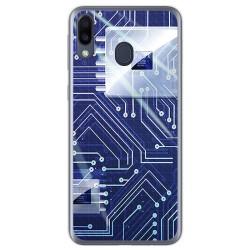 Funda Gel Tpu para Samsung Galaxy M20 diseño Circuito Dibujos