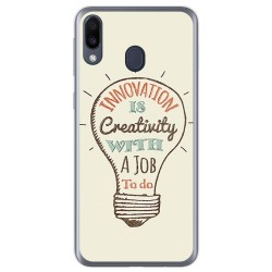 Funda Gel Tpu para Samsung Galaxy M20 diseño Creativity Dibujos