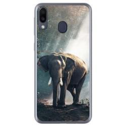 Funda Gel Tpu para Samsung Galaxy M20 diseño Elefante Dibujos