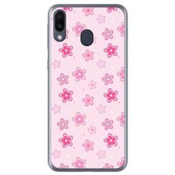 Funda Gel Tpu para Samsung Galaxy M20 diseño Flores Dibujos