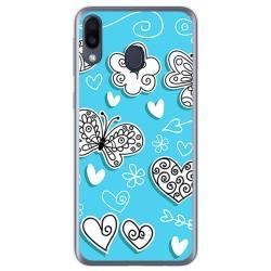 Funda Gel Tpu para Samsung Galaxy M20 diseño Mariposas Dibujos