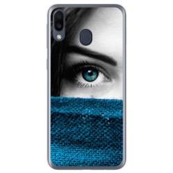 Funda Gel Tpu para Samsung Galaxy M20 diseño Ojo Dibujos