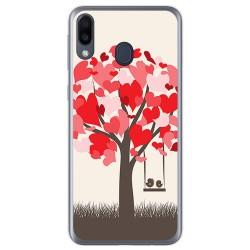 Funda Gel Tpu para Samsung Galaxy M20 diseño Pajaritos Dibujos
