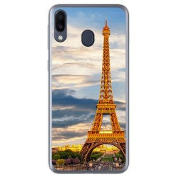 Funda Gel Tpu para Samsung Galaxy M20 diseño Paris Dibujos