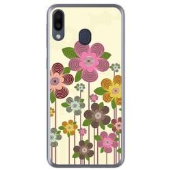 Funda Gel Tpu para Samsung Galaxy M20 diseño Primavera En Flor Dibujos