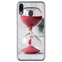 Funda Gel Tpu para Samsung Galaxy M20 diseño Reloj Dibujos
