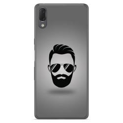 Funda Gel Tpu para Sony Xperia L3 diseño Barba Dibujos