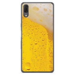 Funda Gel Tpu para Sony Xperia L3 diseño Cerveza Dibujos