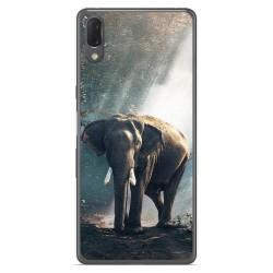 Funda Gel Tpu para Sony Xperia L3 diseño Elefante Dibujos