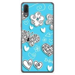 Funda Gel Tpu para Sony Xperia L3 diseño Mariposas Dibujos
