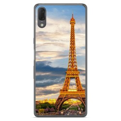 Funda Gel Tpu para Sony Xperia L3 diseño Paris Dibujos