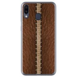 Funda Gel Tpu para Samsung Galaxy M20 diseño Cuero 01 Dibujos