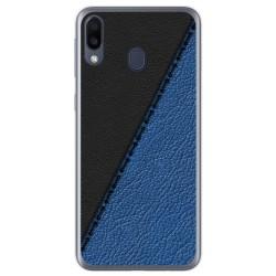Funda Gel Tpu para Samsung Galaxy M20 diseño Cuero 02 Dibujos
