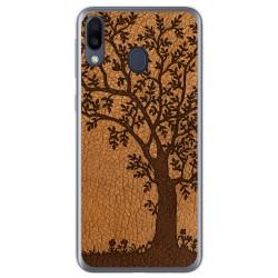 Funda Gel Tpu para Samsung Galaxy M20 diseño Cuero 03 Dibujos