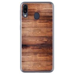 Funda Gel Tpu para Samsung Galaxy M20 diseño Madera 02 Dibujos