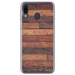 Funda Gel Tpu para Samsung Galaxy M20 diseño Madera 03 Dibujos