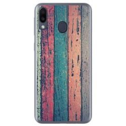 Funda Gel Tpu para Samsung Galaxy M20 diseño Madera 10 Dibujos