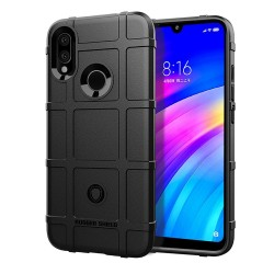 Funda Armor Rugged Shield Antigolpes para Xiaomi Redmi 7 color Negra
