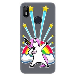 Funda Gel Transparente para VSmart Joy 1 diseño Unicornio Dibujos