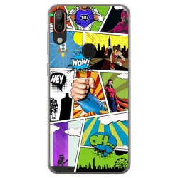 Funda Gel Tpu para Vsmart Active 1+ Plus diseño Comic Dibujos