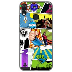 Funda Gel Tpu para Vsmart Joy 1+ Plus diseño Comic Dibujos