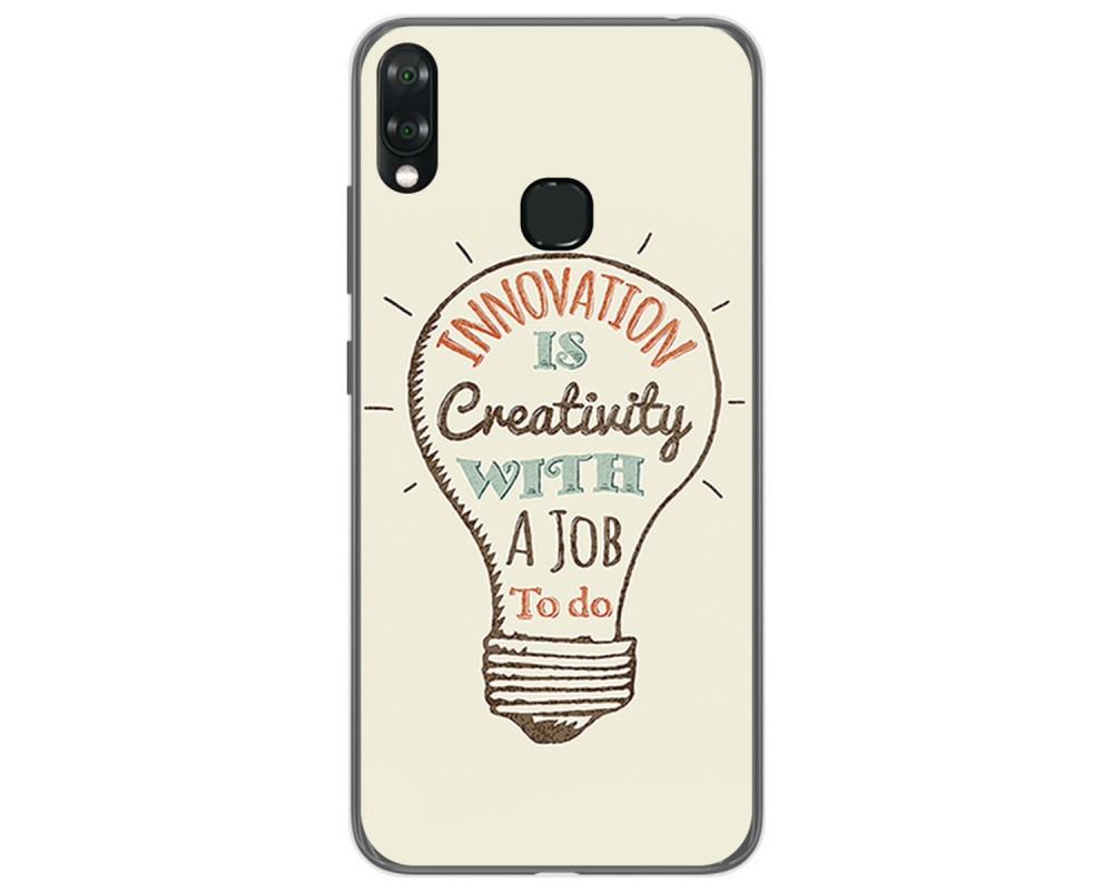 Funda Gel Tpu para Vsmart Joy 1+ Plus diseño Creativity Dibujos