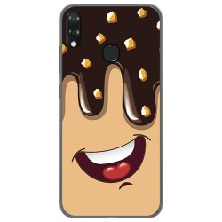 Funda Gel Tpu para Vsmart Joy 1+ Plus diseño Helado Chocolate Dibujos