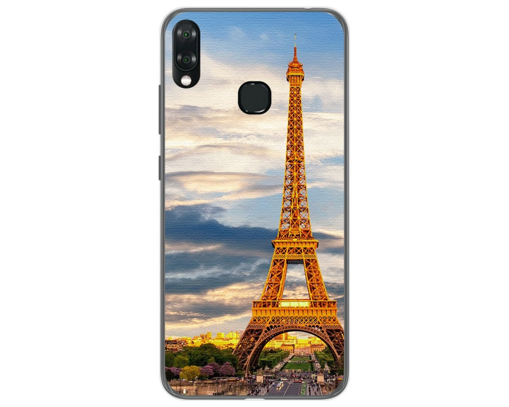 Funda Gel Tpu para Vsmart Joy 1+ Plus diseño Paris Dibujos
