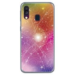 Funda Gel Tpu para Samsung Galaxy A40 diseño Abstracto Dibujos