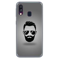 Funda Gel Tpu para Samsung Galaxy A40 diseño Barba Dibujos