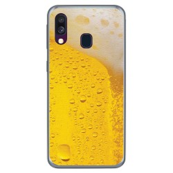 Funda Gel Tpu para Samsung Galaxy A40 diseño Cerveza Dibujos