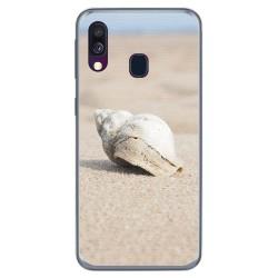 Funda Gel Tpu para Samsung Galaxy A40 diseño Concha Dibujos