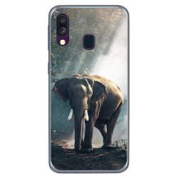 Funda Gel Tpu para Samsung Galaxy A40 diseño Elefante Dibujos