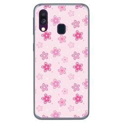 Funda Gel Tpu para Samsung Galaxy A40 diseño Flores Dibujos