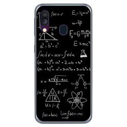 Funda Gel Tpu para Samsung Galaxy A40 diseño Formulas Dibujos