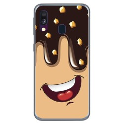 Funda Gel Tpu para Samsung Galaxy A40 diseño Helado Chocolate Dibujos