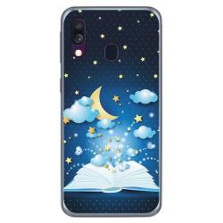 Funda Gel Tpu para Samsung Galaxy A40 diseño Libro Cuentos Dibujos
