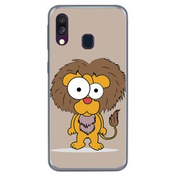 Funda Gel Tpu para Samsung Galaxy A40 diseño Leon Dibujos