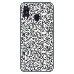 Funda Gel Tpu para Samsung Galaxy A40 diseño Letras Dibujos