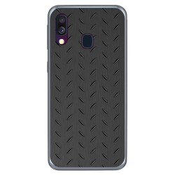 Funda Gel Tpu para Samsung Galaxy A40 diseño Metal Dibujos