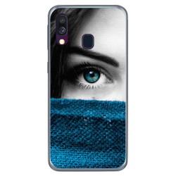 Funda Gel Tpu para Samsung Galaxy A40 diseño Ojo Dibujos