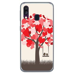 Funda Gel Tpu para Samsung Galaxy A40 diseño Pajaritos Dibujos
